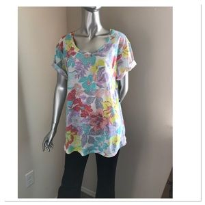 Pastel Floral Tunic Tee